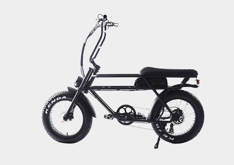 Under seat battery fat tire electric bike