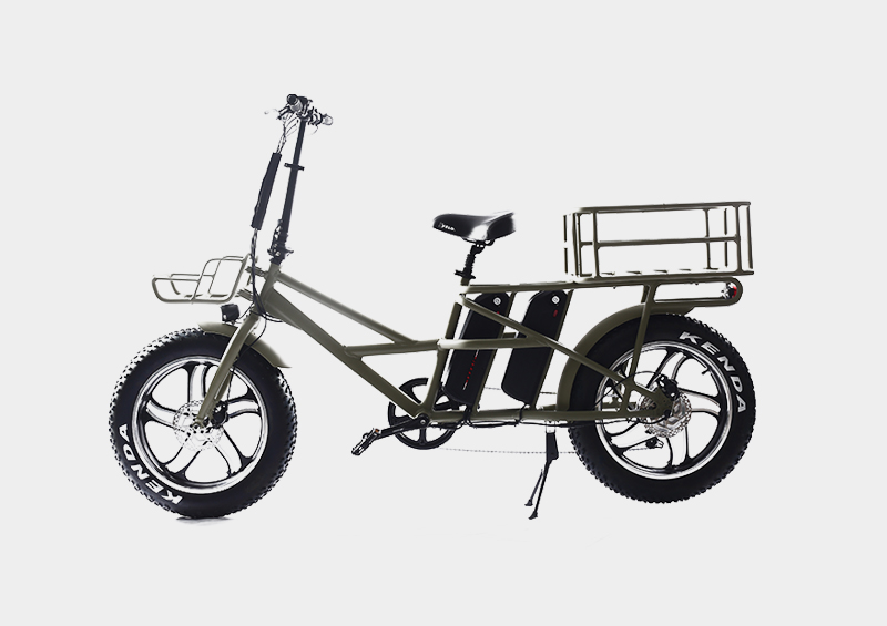 Front and rear double basket and battery fast food pizza  delivery electric cargo bicycle bike