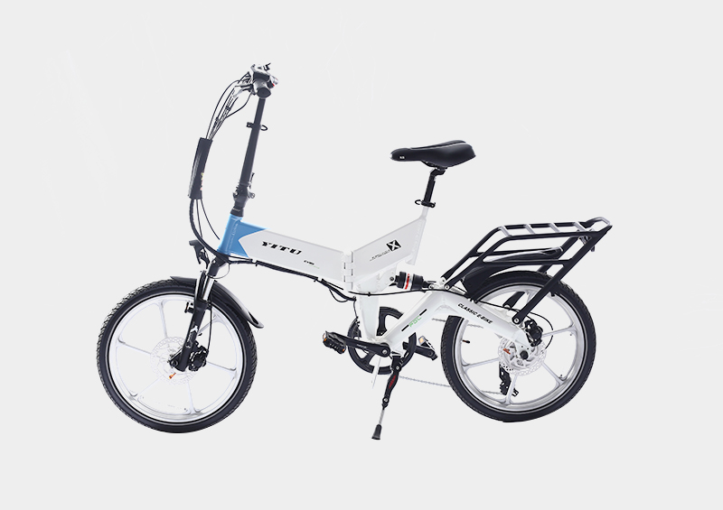 Frame hidden battery full suspension ebike