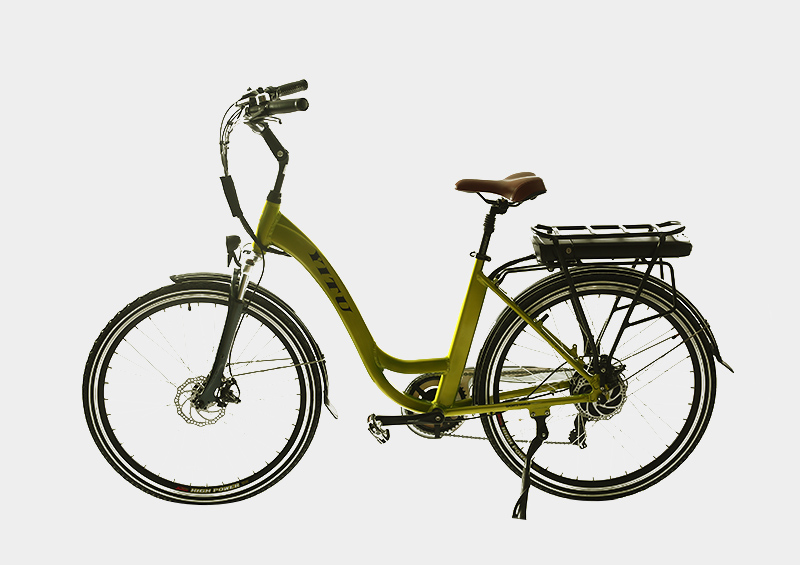Double row rear rack battery electric city road bicycle