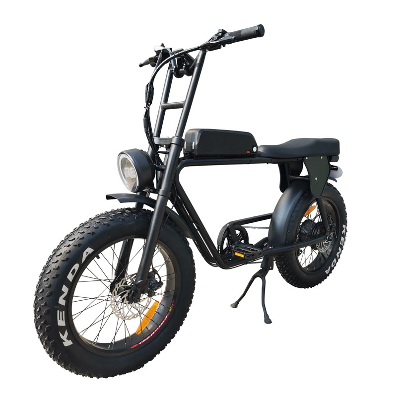 Foot rest and rear carrier bafang 48v 500w super powered retro fork vintage 2 seat fat tire electric bike